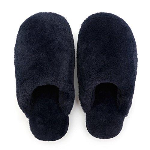 Fankou Winter Home par de zapatillas de algodón cálido hogar hembra zapatillas indoor espeso lindo macho, C (43-44)