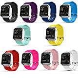 Fitbit Blaze Bands, amBand [10 PACK] Soft Silicone Replacement Band Sport Strap for Fitbit Blaze Smart Fitness Watch, Large