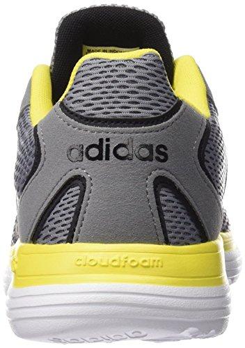 Adidas Cloudfoam Speed AW4909, Zapatillas Hombre, Gris / Negro / Amarillo (Gris / Negbas / Amaril)