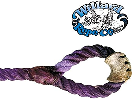 NRS Willard Rope Company 6 1//2 Black Tail Calf String Purple 1//4 XS