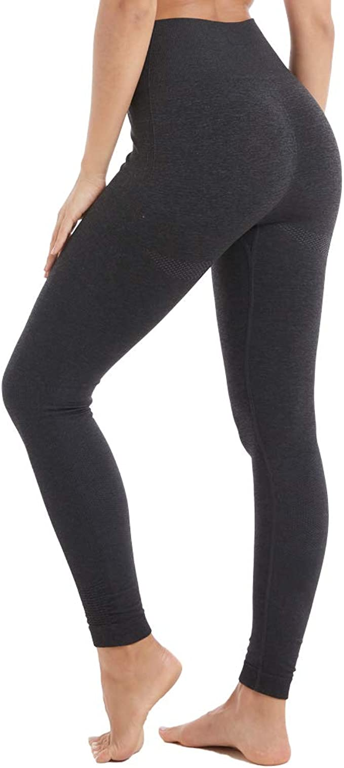 Amazon Com Aoxjox Yoga Pants For Women High Waisted Gym Sport Ombre Seamless Leggings Clothing