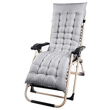 Iraza Cojín colchón Colchoneta para Tumbona de jardín Portable Acolchado en Patio reclinable alisador (Gris)