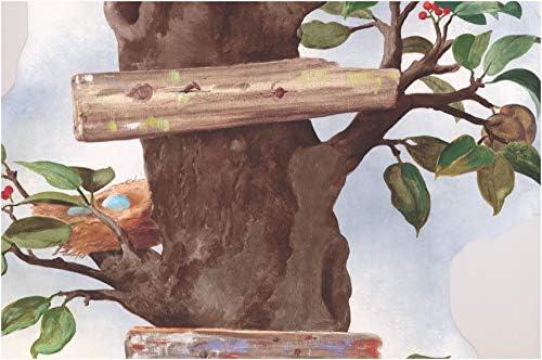 """スタイリッシュな桜のユニークな垂直森花壁紙ボーダーキッチンキッチンバスルームリビングルームロール15 'x 21 """""""