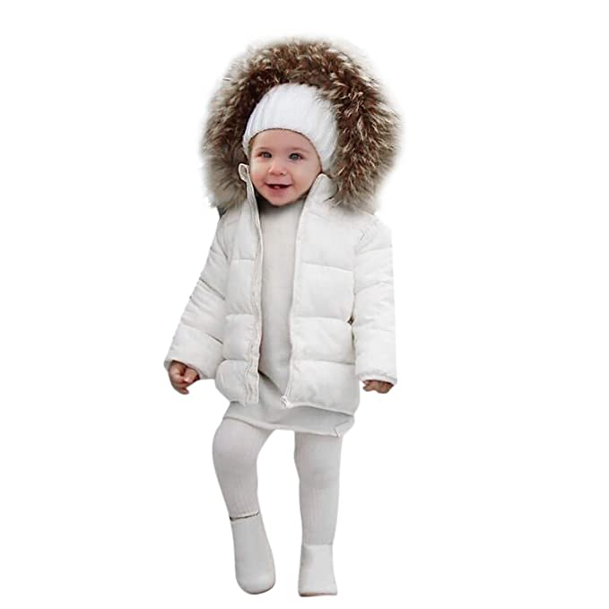 f2c0642bb WARMSHOP Infant Toddler Boys Girls Hooded Down Coat 0-4 Years Old 🎅