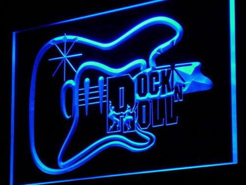 Guitar Rock n Roll Dancer Music Gift LED Sign Night Light i948-b(c)