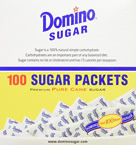 Price comparison product image DOMINO SUGAR PACKETS - 100 / 3.54g Packs