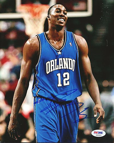 Dwight Howard Signed 8x10 Photograph Magic - Certified Genuine Autograph By PSA/DNA - Autographed Photo