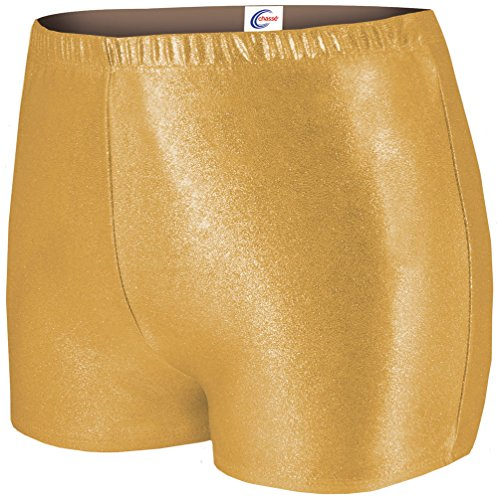 Metallic Boy Cut Briefs Met Gold Y Medium (Boy Cut Cheerleading Briefs)
