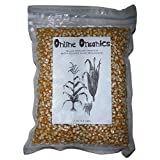 OnlineOrganics Organic Yellow Popcorn, Vacuumed Packed - 1 Kg (2.2 Lbs)