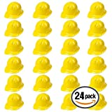 Anapoliz Yellow Construction Hat Toy For Kids Dress Up Theme Party Fun Pack | 24 - Pack