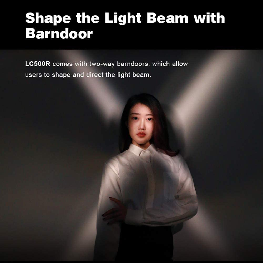 Creative Music Mode with Remote Control /& Barndoor 2500K-8500K Adjustable 360/° Full Color 0-100/% Dimmable CRI96 TLCI98 Accurate Color 14 FX Lighting Effects Godox LC500R RGB LED Light Stick