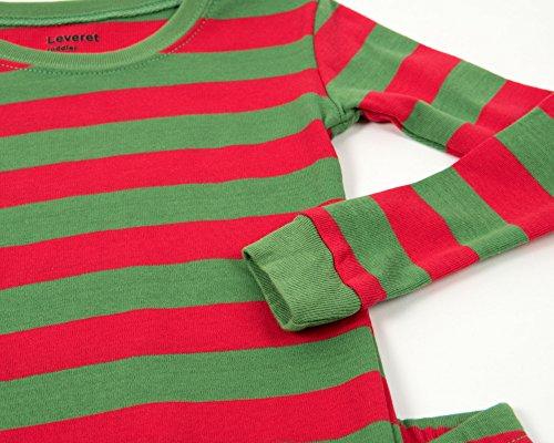 9c745ff3031 Leveret Kids Christmas Pajamas Boys Girls   Toddler Pajamas Red ...