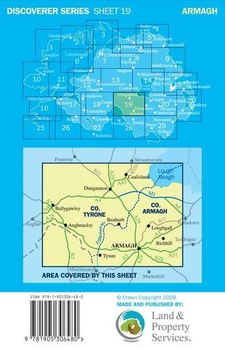 Armagh (Irish Discoverer Series) by Ordnance Survey of Northern Ireland (Folded Map, 30 Nov 2009) Paperback