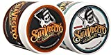 Suavecito Duo Bundle. Original Hold (4 oz) and Unscented Original(4 oz) Variations. Medium Hold Styling Hair Pomades for Men.