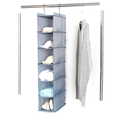 18427b70535b Amazon.com: Simple Homeware Hanging Closet Sweater Storage Oxford ...