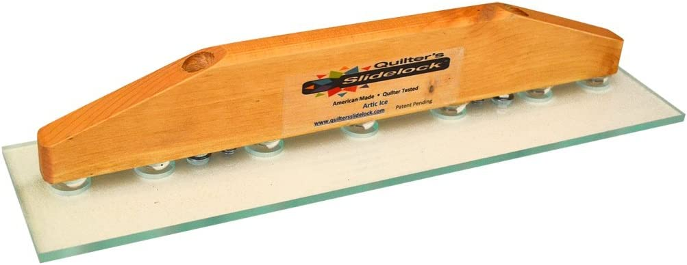 Clear Arctic Ice 14 Inch Quilters Slidelock Ruler Guide