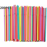IKEA of Sweden Assorted Colors, Pack of 200Piece (1) Soda Drinking Straw, Disposable Flexible Straws, Multicolor