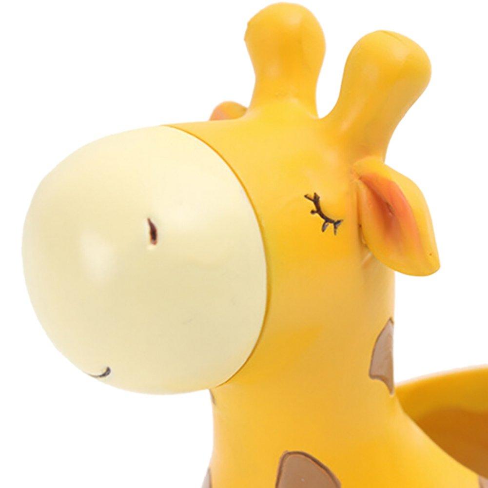 Fairylove Cute Animal Giraffe Shaped Cartoon Home Decoration Natural Resin Succulent Plant Vase Flower Pot