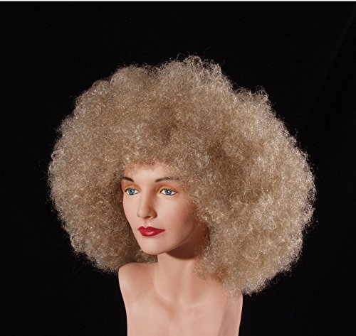 Afro Hippie Costume (Loftus Giant 1970's Disco Queen Adult Curly Afro Wig, Blonde, One Size)