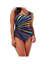 Women's One Piece Swimsuit, Billila Backless Swimwear, Plus Size Beach Bra