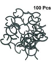 Yardwe 100 Unids Clips Vegetales Jardín Linda Flor Jardinería Bonsai Mariquita Forma Clips Vine Clips fijos Soporte de Plantas de injerto Vine Clips (Verde Oscuro)