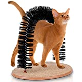 Hoovy Cat Scratcher and Grooming Arch: Self Groomer and Massager with Catnip: No More Hair Balls and Shedding, Gentle Fur Brushing, Perfect for Playing and Scratching, Durable Construction