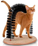 Kleeger Cat Scratcher And Grooming Arch: Self Groomer And Massager With Catnip: No More Hair Balls And Shedding - Gentle Fur Brushing - Perfect For Playing And Scratching - Durable Construction