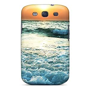 Awesome Design Nature Sundown Sea Waves At Sunset Hard Case Cover For Galaxy S3