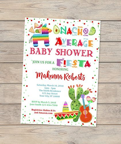 04559ed7f53 Amazon.com  Nacho Average Baby Shower Invitations