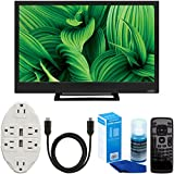 "Vizio D24hn-E1 D-Series 24"" Class Edge-Lit LED Smart TV + Transformer Tap USB with 6-Outlet Wall Adapter + 6ft. High-Speed HDMI Cable + Universal Screen Cleaner Bundle"