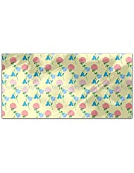 Summer Wild Flowers Rectangle Tablecloth Large Dining Room Kitchen Woven Polyester Custom Print