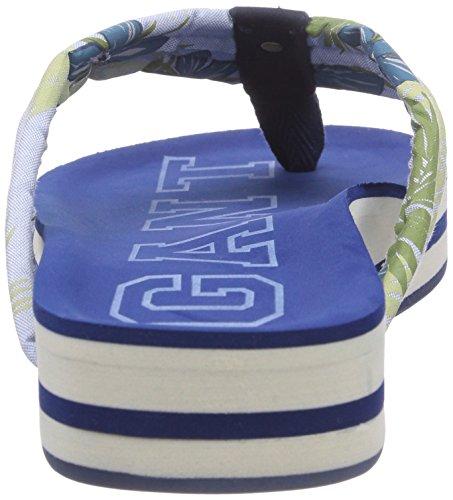 GANT FOOTWEAR Malibu - zuecos de lona mujer azul - Blau (blue flower G03)