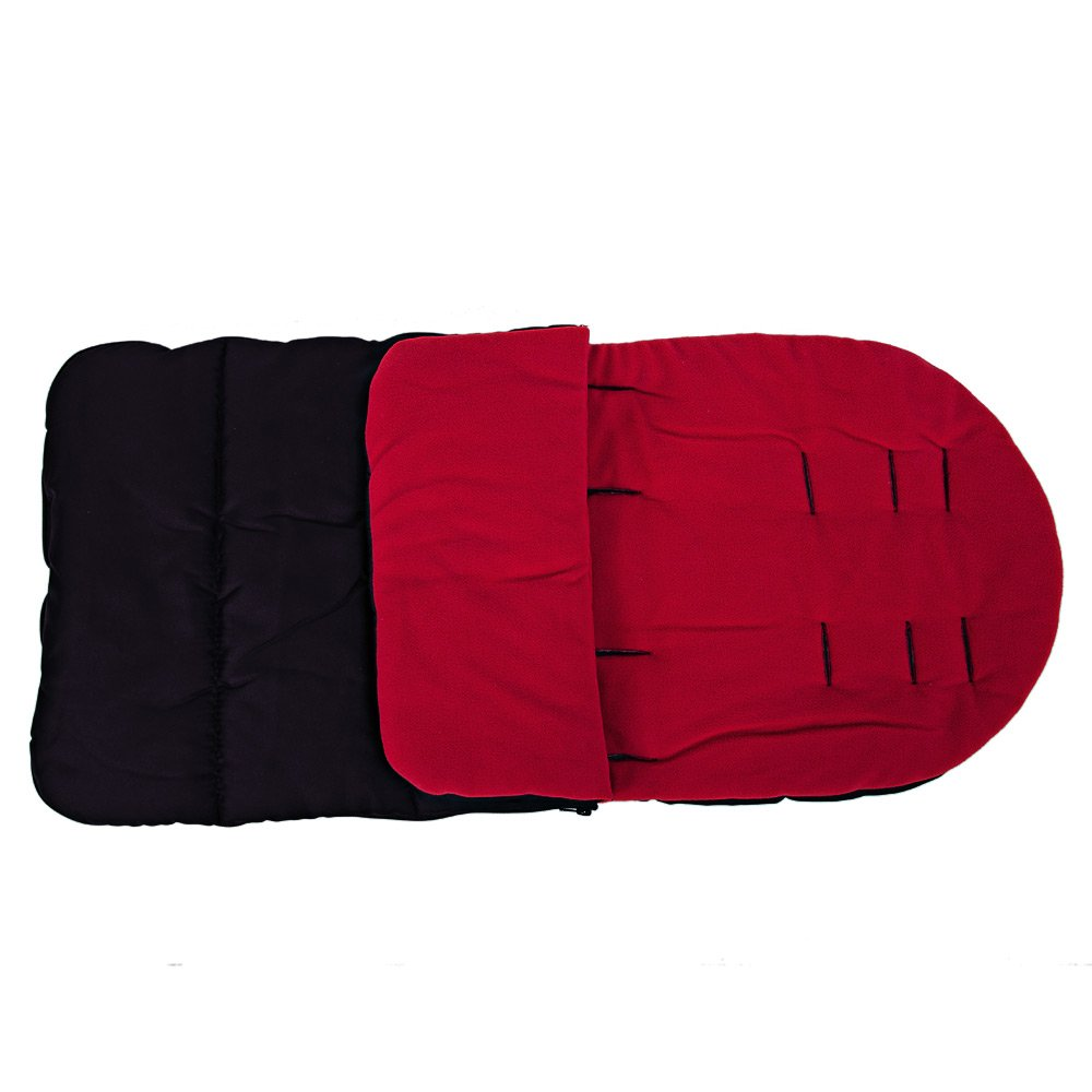 Kidshome Baby Sleeping Bag Universal 3 in 1 Stroller Annex Mat Footmuff Cover Stroller Bunting Bag Waterproof Windproof Cold-Proof Detachable(red)