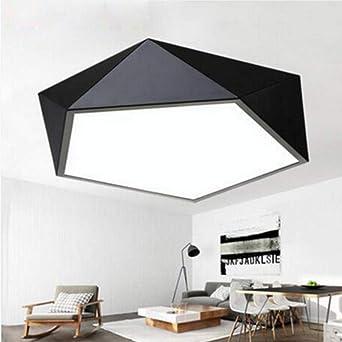 Plafond moderne de la lampe LED géométrique polygone fer cuit au ...