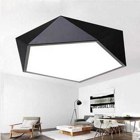 Plafond moderne de la lampe LED géométrique polygone fer ...