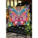 Thumbprintz Pattern Butterfly Indoor/Outdoor Pillow 18