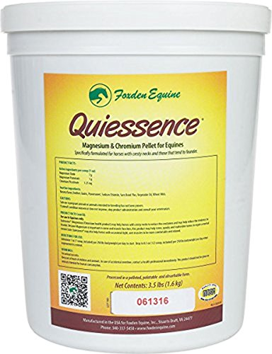 Image of Quiessence Foxden Equine 3.5 lb Banana Flavored Magnesium Pellets Founder Calming Sore Muscle Supplement