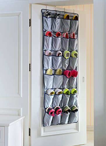 "Door Shoe Organizer Closet Door Shoe Rack Hanging Shoe Organizer Shoe Hanger for Large 24 Pockets Shoe Storage Top Quality 420D Oxford Fabric, 63"" x 22"""