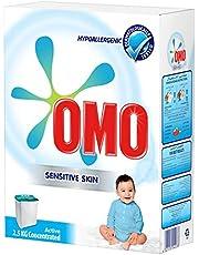 مسحوق غسيل اومو اكتيف للبشرة الحساسة، 2.5 كغم