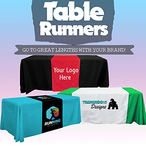BANNER BUZZ MAKE IT VISIBLE Customized Table Runners 2' x 5.67' Free Design with using Your Text and image (Cheap Items To Sell At Flea Markets)