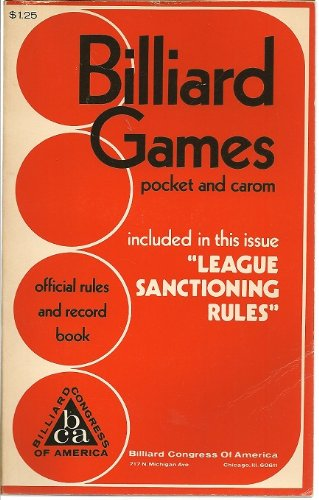 Official Rule and Record Book for All Pocket and Carom Billiard Games