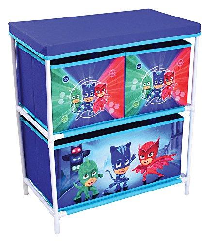 Fun House 712933Shelf, PP/Cardboard/3Shelves/Plastic Frame, Blue, 60.5x 30.5x 26cm