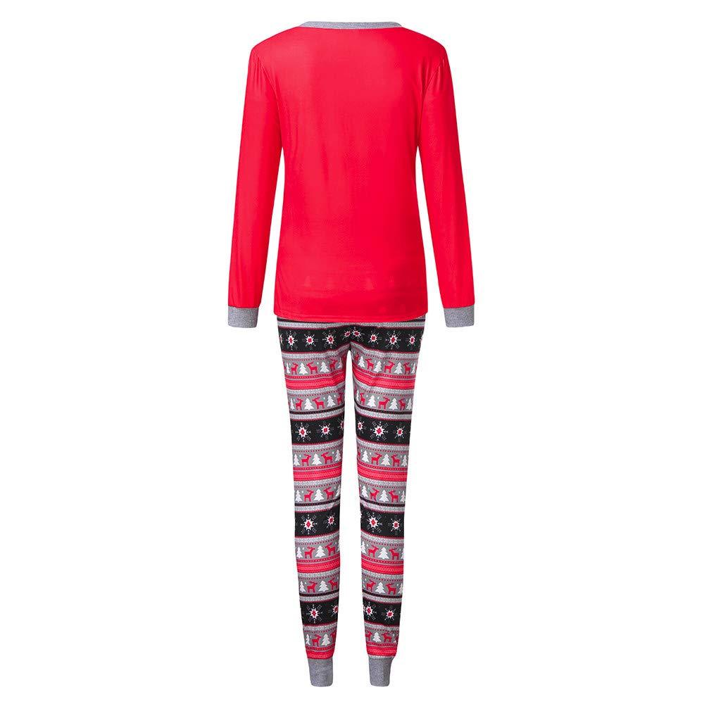 christmas pyjamas family plus size men women kids baby boys girls deer blouse pants xmas pjs