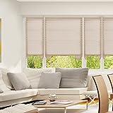 SUNFREE Cordless Light Filtering Fabric Pleated