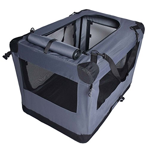 Arf Pets Dog Soft Crate 36 Inch Kennel for Pet Indoor Home & Outdoor Use - Soft Sided 3 Door Folding Travel Carrier with Straps by Arf Pets (Image #3)