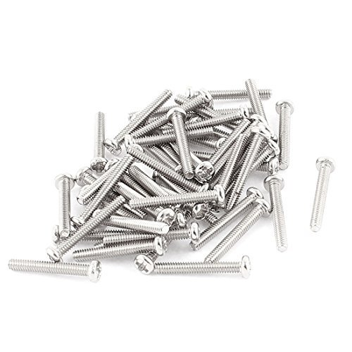 eDealMax 50 PC M2x14mm Redondo de Acero inoxidable de cabeza ...