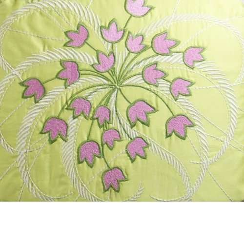 (Amy Butler MODENA Embroidered Valance 100% Organic Cotton)