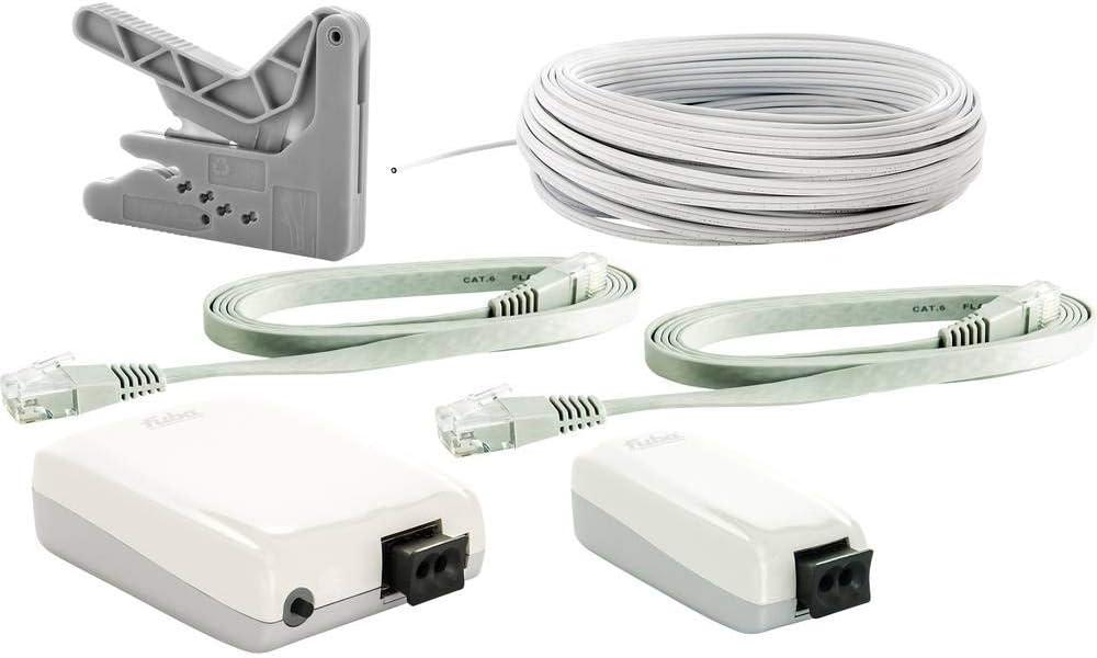 Fuba 29104072 webfiber 135 luz Escalera de Adaptador de Juego para óptica de Red con uno a Tres Puertos Plus WiFi Función de Color Blanco: Amazon.es: Informática