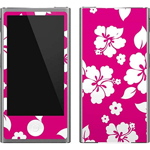 - Skinit Floral Patterns iPod Nano (7th Gen&2012) Skin - Pink and White Design - Ultra Thin, Lightweight Vinyl Decal Protection