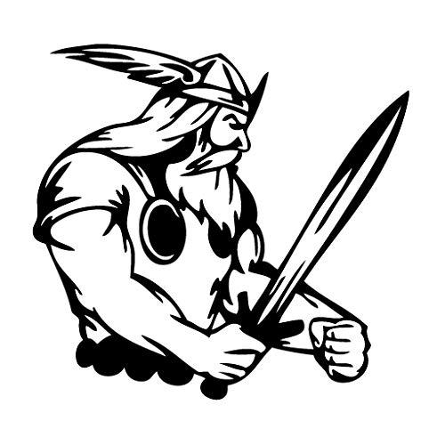 leononlinebox Viking Sword Fight - Tribal Decal [12cm Black] Vinyl Sticker for Car, Bike, iPad, Laptop, MacBook, Helmet